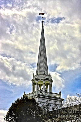 Steeple At Caz Art Print by Steve Ratliff