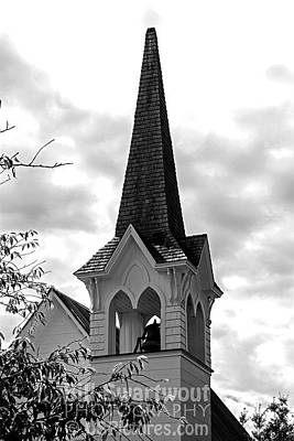 Photograph - Steeple In Black And White by Bill Swartwout