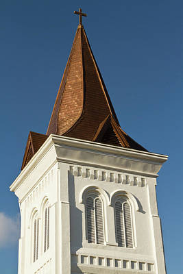 Huntsville Wall Art - Photograph - Steeple Of Historic First United by William Sutton