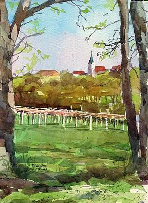 Winery Painting - Steeple View by Spencer Meagher