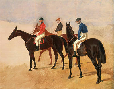 Steeplechase Painting - Steeplechase Cracks Allen Mcdonough On Brunette, Tom Oliver by Litz Collection