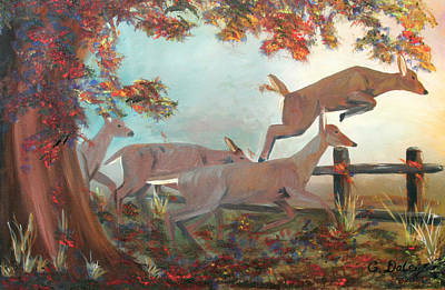 Gail Daley Wall Art - Painting - Steeplechase by Gail Daley