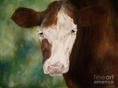 Steer Painting - Steer Study by Meagan  Visser