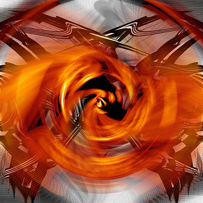 Digital Art - Steering Through The Fire by rd Erickson