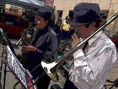 Street Muscians Wall Art - Photograph - Steetband by Mel Stone