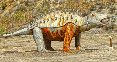 Painting - Stegosaurus by Gregory Dyer
