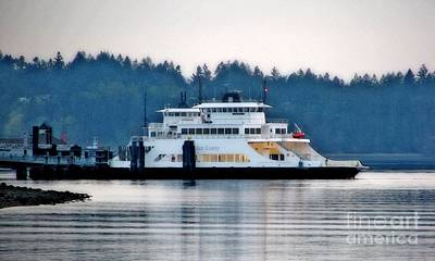 Photograph - Steilacoom Ferry At Dusk by Chris Anderson