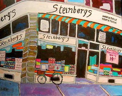 Steinbergs Groceteria Painting - Steinberg Groceteria Montreal Memories by Michael Litvack