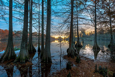 Photograph - Steinhagen Reservoir Sunrise by David Morefield