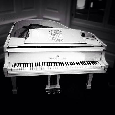 Piano Photograph - Steinway's John Lennon 'imagine' by Natasha Marco