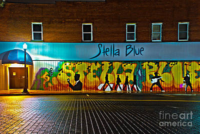Photograph - Stella Blue At Night by Michael Arend