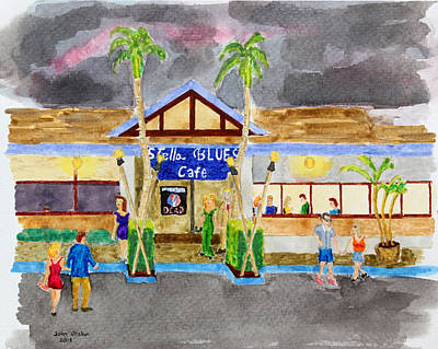 Painting - Stella Blues Cafe On Maui by John Orsbun