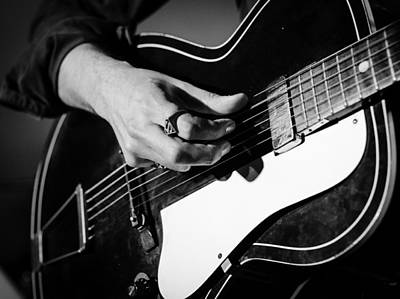Photograph - Stella Burns - Guitar Close-up by Andrea Mazzocchetti