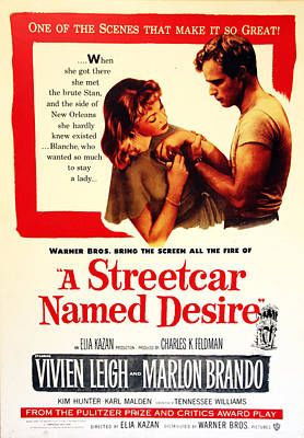 Movieposter Photograph - Stellaaaaa - A Streetcar Named Desire by Debbie Oppermann