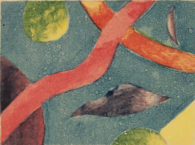 Stellar Drawing - Stellar - Ghost Print by Emily Lowe