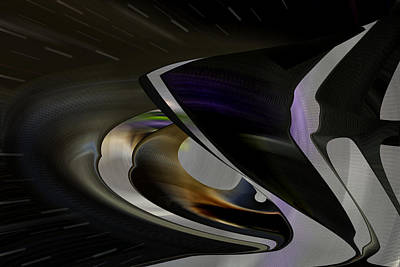 Digital Art - Stellar Flight - Digital Space Abstract by rd Erickson