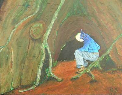 Stellar Jay Begins His Journey...will You Follow? Art Print by Gilbert Bernhardt