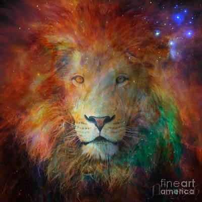 Digital Art - Stellar Lion by Mynzah Osiris