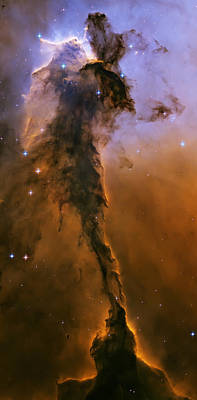 Stellar Spire In The Eagle Nebula Art Print by Adam Romanowicz