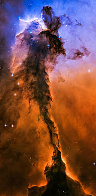 Photograph - Stellar Spire In The Eagle Nebula by Marco Oliveira
