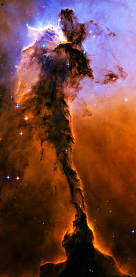 Photograph - Stellar Spire In The Eagle Nebula by Ricky Barnard