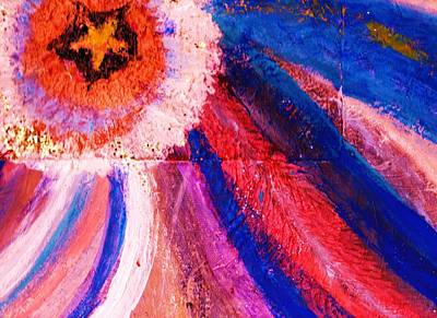 Beam Mixed Media - Stellar Swirls Under Star by Anne-Elizabeth Whiteway