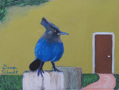 Painting - Stellar's Jay In San Francisco Bay by Dana Schmidt