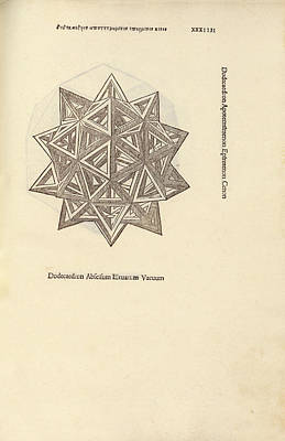Stellated Dodecahedron Art Print by Library Of Congress