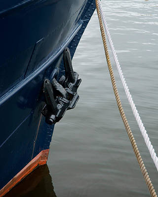 Photograph - Stem Anchor Ropes by Evgeny Lutsko
