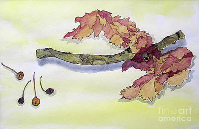 Whimsical Mixed Media Drawing - Stems And Shadows by Jeanne Ward