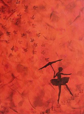 Stencil Ballerina Art Print