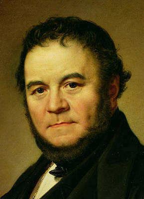 Literature Painting - Stendhal by Johan Olaf Sodermark