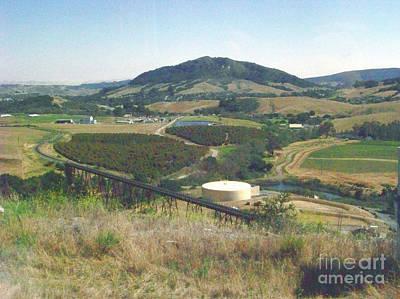 Bishops Peak Photograph - Stenner Creek Amtrak Trestle by Charles Robinson