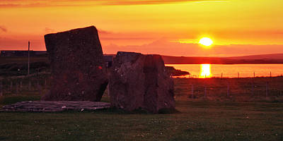 Stenness Sunset 2 Art Print