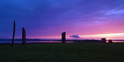 Photograph - Stenness Sunset 3 by Steve Watson