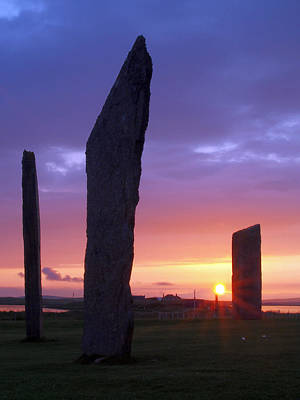 Photograph - Stenness Sunset 5 by Steve Watson