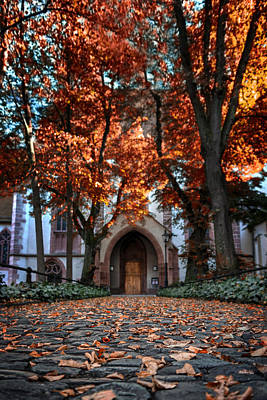 Medieval Entrance Photograph - Autumn In Basel by Carol Japp