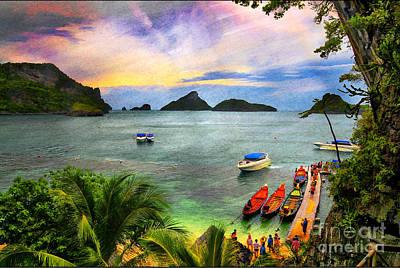 Thai Mixed Media - Step Into Paradise by Daniela White