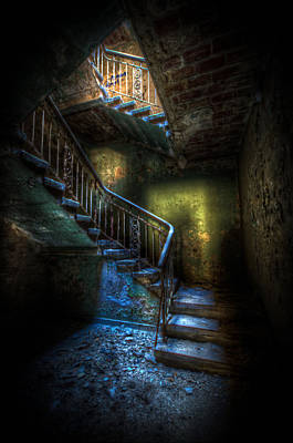 Creepy Digital Art - Step Into The Light by Nathan Wright