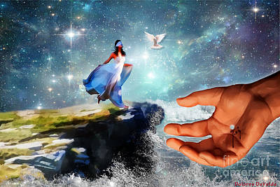 Hope Digital Art - Step Of Faith by Dolores Develde