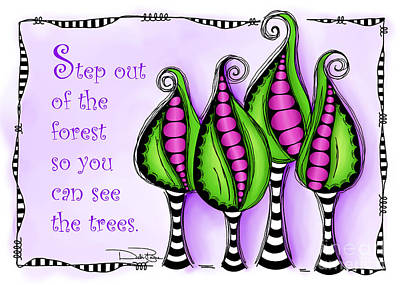 Step Out Of The Forest Art Print by Debi Payne