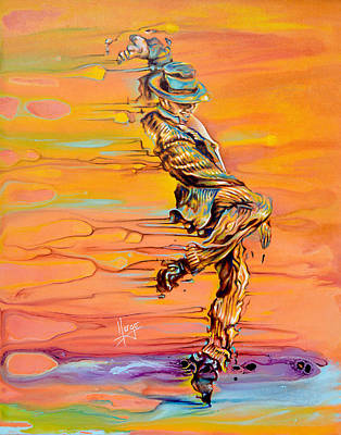Expressionistic Painting - Step Up by Karina Llergo