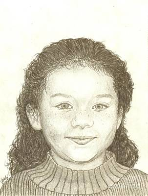 Drawing - Stephanie by Lew Davis