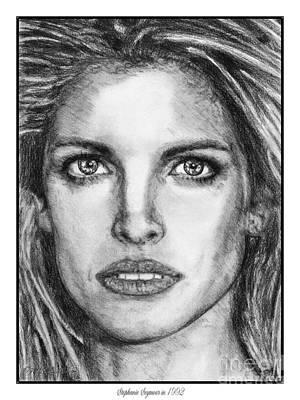 Drawing - Stephanie Seymour In 1992 by J McCombie