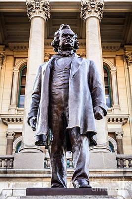 Gilbert Photograph - Stephen A. Douglas Statue In Springfield Illinois by Paul Velgos