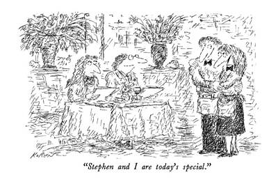 September 10th Drawing - Stephen And I Are Today's Special by Edward Koren
