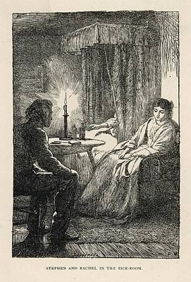 Candle Lit Drawing - Stephen And Rachel In The  Sickroom by Mary Evans Picture Library