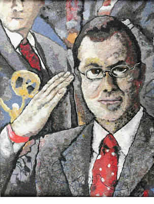 Report Mixed Media - Stephen Colbert In Dryer Lint by Heidi Hooper