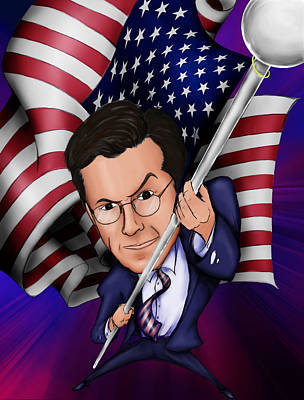 Jon Stewart Digital Art - Stephen Colbert by Paul Gioacchini
