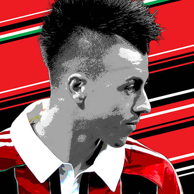 Iphone 4 Photograph - Stephen El Shaarawy Ac Milan Print by Pro Prints